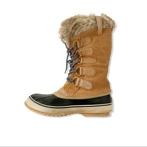 Sorel Joan Of Arctic Tan/Black Winter Boots Sz 10